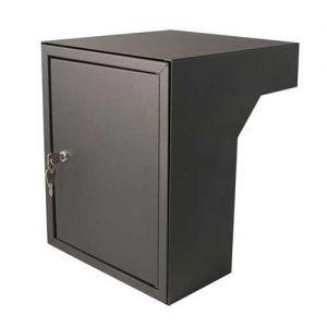 Post inbouwkast type Stoer! kleur zwart (RAL9011)/antraciet (RAL7016) 40 tot 55 cm