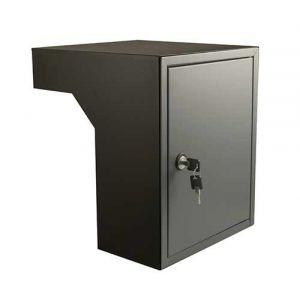 Post inbouwkast type Stoer! zwart/basalt (RAL9011/RAL7012) 35 tot 50 cm