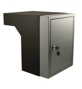 Post inbouwkast type Stoer! kleur zwart (RAL9011)/basalt (RAL7012) 40 tot 55 cm