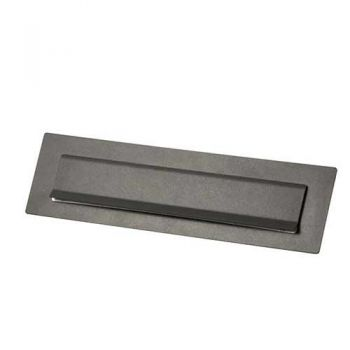 Briefplaat Stoer! Basalt (RAL7012) 340x95 mm